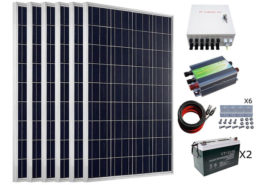 600W Off Grid Poly Solar Panel System For Charging 12-24V Equipment