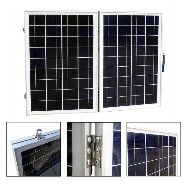 Wholesale 50W 12V Foldable Polycrystalline Solar Panel Kit-1