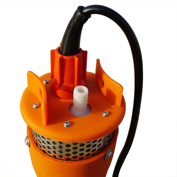 12-24V Submersible Deep DC Solar Well Water Pump With Solar Battery-1