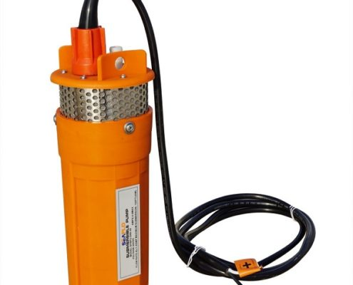 12-24V Submersible Deep DC Solar Well Water Pump With Solar Battery