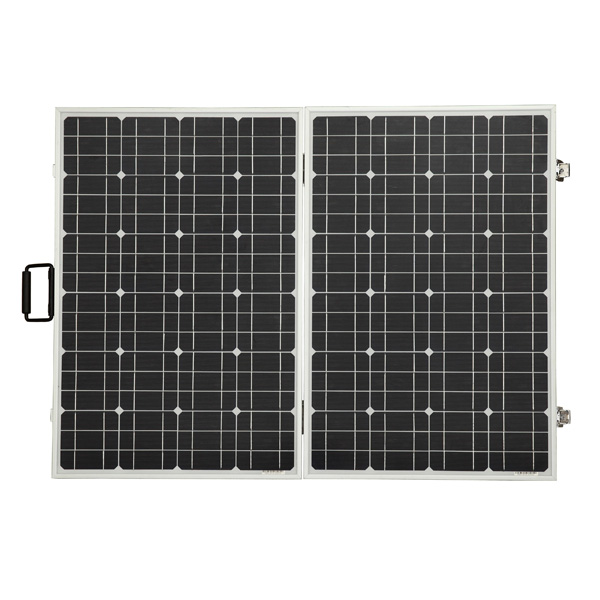 120W 12V Foldable Monocrystalline Solar Panel With Pre-installed 15A Charge Controller