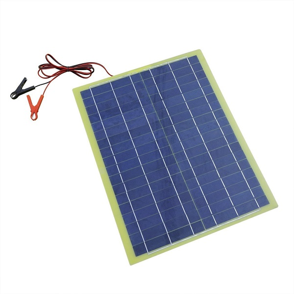 20 Watts Epoxy Resin Solar Panel for 12V Camping Car Battery Charging-1
