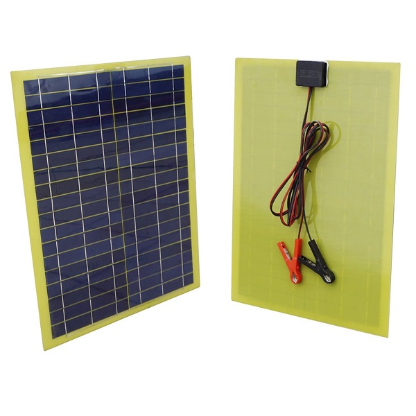 20 Watts Epoxy Resin Solar Panel for 12V Camping Car Battery Charging