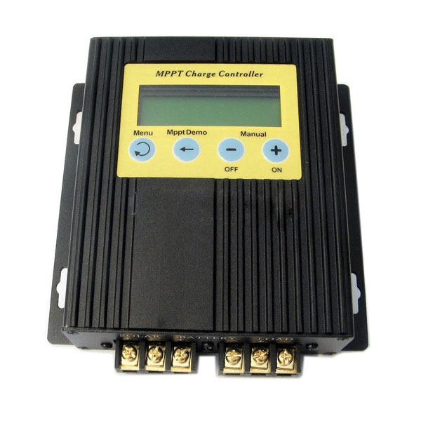 20A MPPT Solar Charge Controller 12V-24V with LCD Display, Timer and Light Sensor