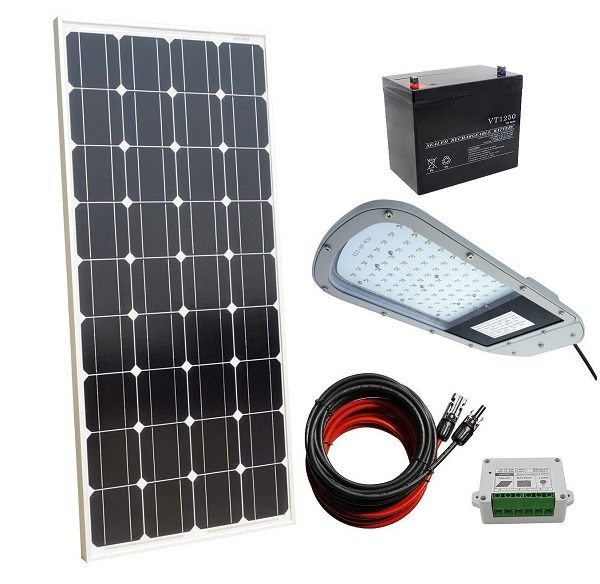 40W 12V Completed LED Solar Street Lighting System for Outdoor, Yard, Garden Light