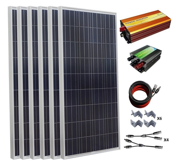 900W 24V Polycrystalline Off Grid Solar Panel Kit for Homes, RVs, Trailers