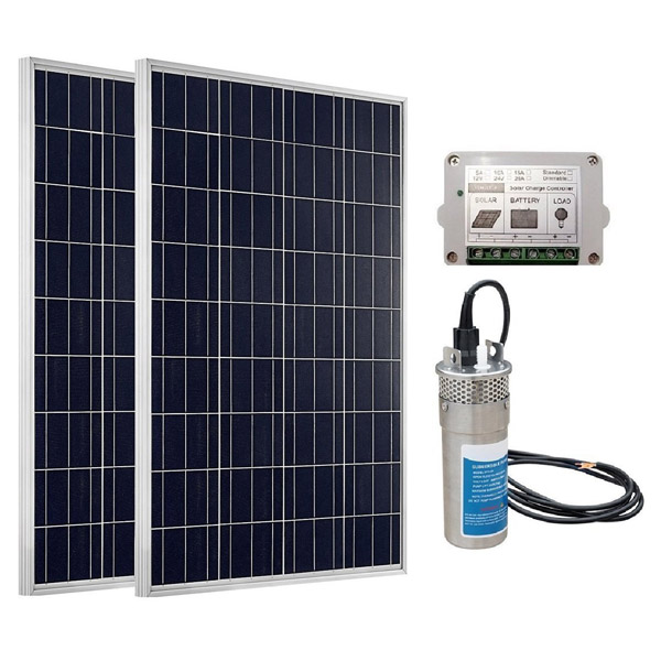 DC 24V Stainless Deep Well Submersible Solar Water Pump System