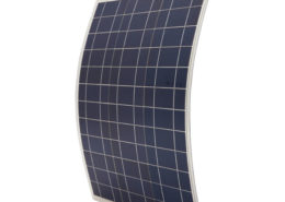 Waterproof 50W 12V Semi-Flexible Poly Solar Panel With 1.4m Cables