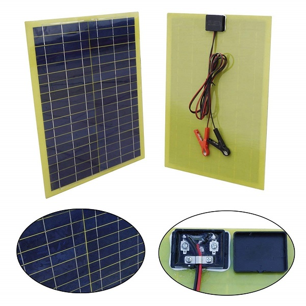12 Volts 20 Watts Epoxy Solar Panel Kits with 10A PWM Charge Controller-1