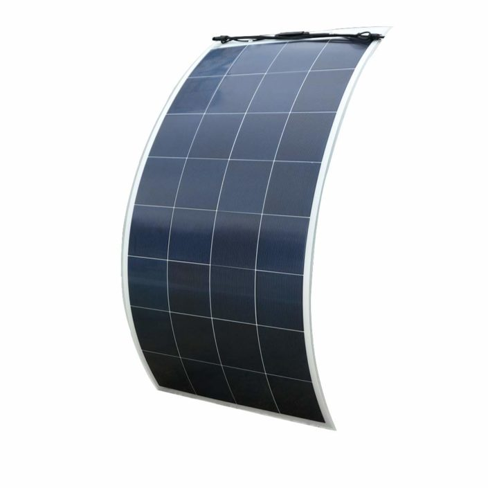 160 Watt 18V Poly Semi Flexible Solar Panel with MC4 for Off-Grid RV, Boat, Camping Battery Charger