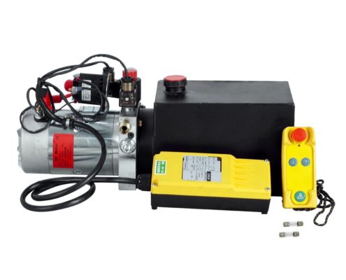 12V DC 6 Quart Double Acting Hydraulic Power Pump with Wireless Remote Control