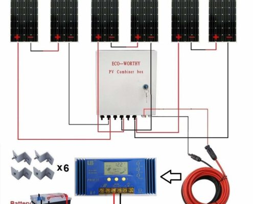 1KW 24 Volt Off Grid Solar Panel RV Boat Kit with 60A PWM Charge Controller