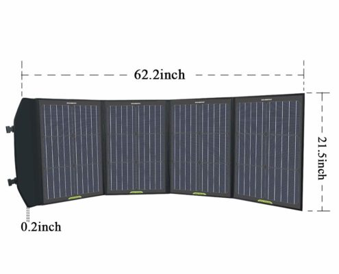 120W Foldable Solar Panel Charger with Charge Controller in Suitcase